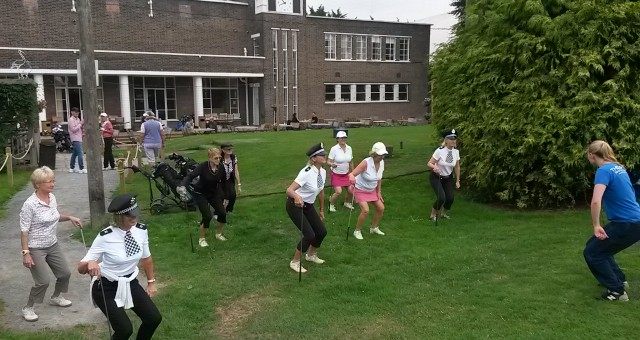 Golf Warm ups at Lucinda's birthday bash!