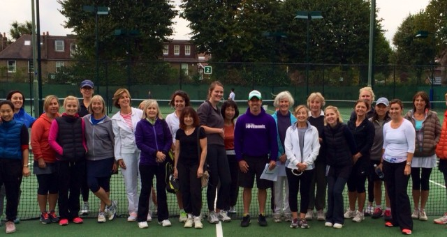 One happy tennis Family at Hartswood Tennis Club