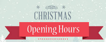 Christmas Opening Hours 2016/2017