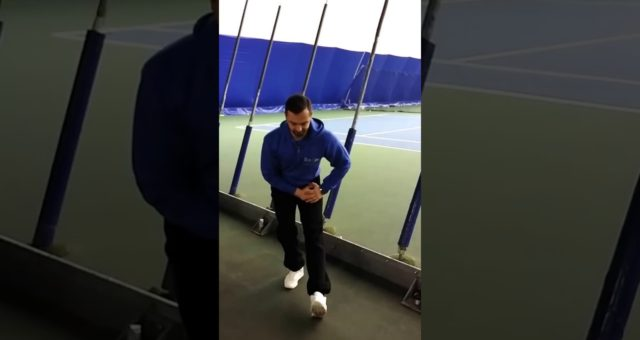 Hamstring & Calf stretch after tennis