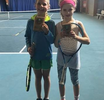 Congratulations to Sophie our junior tennis patient (right) for being good with …