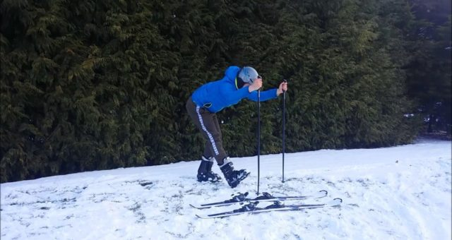 Stretch routine after skiing
