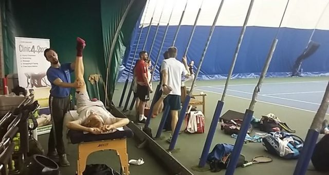 We are proud to provide on court sports therapy at  Dukes Meadows tennis pro am …