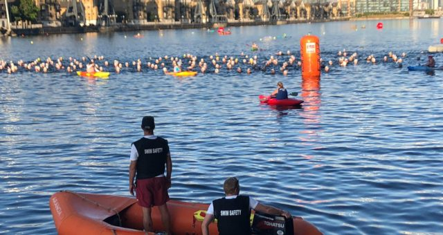 It's Day  at the London Triathlon and we've already had a productive morning tre…