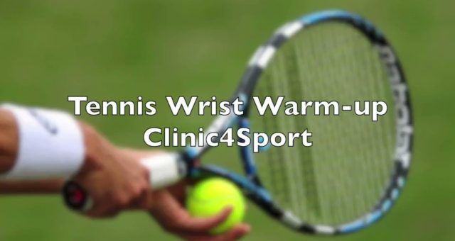 Great wrist warm-ups for all tennis players. Repeat each exercise 10 times befor…