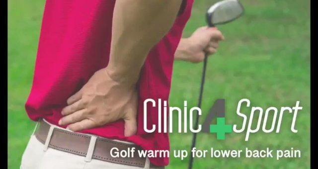 Do you suffer from lower back pain when playing golf? Here's a few warm-up exerc…