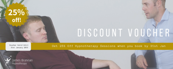 Improve your well being or athletic performance with hypnotherapy! 25% discount available until 31st of January!