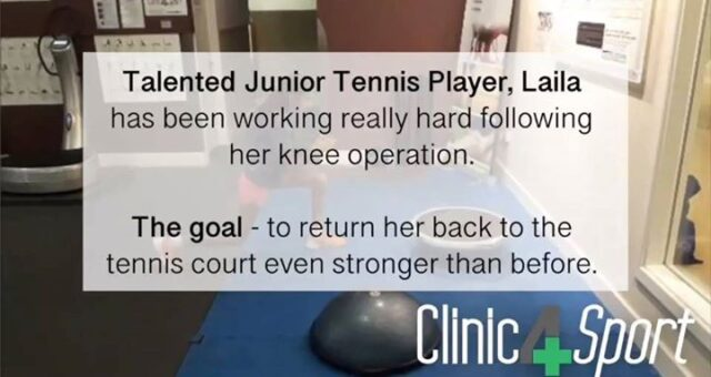 We are looking forward to seeing our junior tennis patient Laila return to the t…