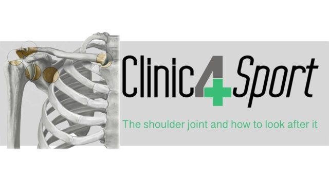 The shoulder joint and how to look after it