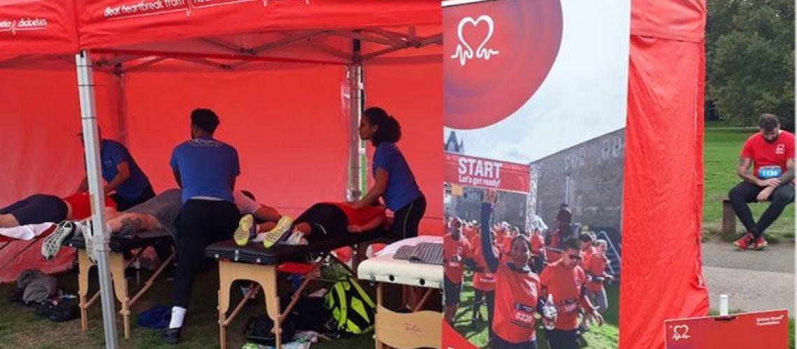 Massage point for Regent's Park Run